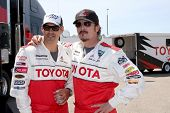 LOS ANGELES - APR 3:  Eddie Cibrian, Kim Coates at the 2012 Toyota Pro/Celeb Race Press Day at Toyot