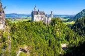 Neuschwanstein Castle Near Fussen, Bavaria, Germany. This Fairytale Castle Is A Famous Landmark Of G poster
