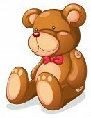 picture of teddy-bear  - Isolated teddy bear on white - JPG