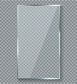 Glossy Reflection Effect. Transparency Window Glass Plastic With Brightreflections Plaque Vector Ref poster