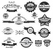 Premium Quality Labels - Collection of retro bi-colours vintage labels with several slogans: Best Ch