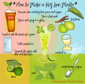 How to Make a Key Lime Mojito - colorful summer cocktails' recipe for one of favorite cool drinks, d