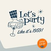Jahrgang ClipArt Vektor eps10 Let 's party.