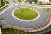 A Roundabout, Also Called A Traffic Circle, Road Circle, Rotary poster