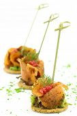 Finger food with smoked salmon