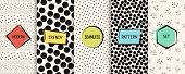 Polka Dot Patterns Collection. Vector Geometric Seamless Textures With Chaotic Circles, Dots, Spots. poster