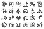 Management Icons. Set Of Business Audit, Startup Strategy And Employee Icons. Business Strategy, Sta poster