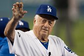 LOS ANGELES - SEPT 22: Former Los Angeles Dodgers manager Tommy Lasorda during the Major League Base