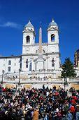 Spanish Steps In Piazza Di Spagna In Rome, Italy