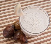 Fragrant Fresh Salak Snake Fruit Smoothie