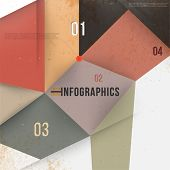 Modern abstract banner design for infographics, business design and website templates, cutout lines