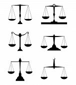 stock photo of jury  - justice scale  - JPG
