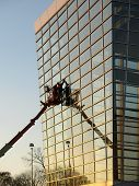 Glass Building Window Washers