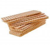 wafer crispbread isolated on white background