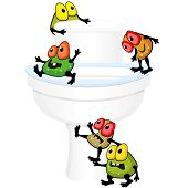 Toilet Bowl With Germs