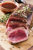 beef steak closeup