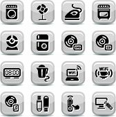 pic of televisor  - Electronic Devices Icons Set for web and mobile - JPG