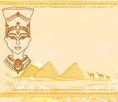Old Paper With Egyptian Queen
