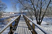 Pedestrian Bridge In Suzdal, Russia.