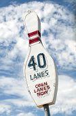 Vintagr Bowling Pin / Bowling lanes Sign