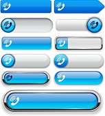 Call blue design elements for website or app. Vector eps10.