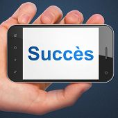 Business concept: Succes(french) on smartphone