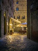 Night Scene In Volterra