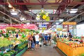 MONTREAL, CANADA - SEP 8: Jean-Talon Market interior on September 8, 2012 in Montreal, Canada. Montr