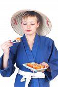 Girl And Sushi