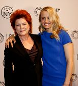 NEW YORK-OCT 2: Actress Kate Mulgrew (L) and Taylor Schilling attend 'Orange Is the New Black' at 20