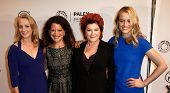 NEW YORK-OCT 2: (L-R) Piper Kerman, Debra Birnbaum, Kate Mulgrew and Taylor Schilling attend 'Orange