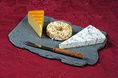 European cheese selection.
