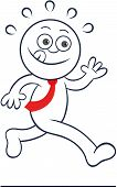 Cartoon Businessman Running