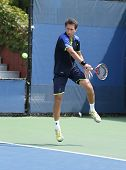 Professional tennis player Sergiy Stakhovsky during his first round doubles match at US Open 2013