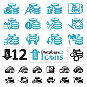 stock photo of spatial  - Vector database icon set for web and print part two - JPG