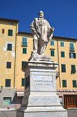 The statue of Giuseppe Garibaldi in Lucca, Tuscany in Italy