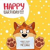 dog message birthday