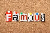 The word Famous