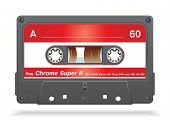 stock photo of xxl  - XXL icon of Vector audio cassette tape - JPG