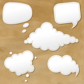 picture of bubble sheet  - Vintage Grunge Texture With Speech Bubbles - JPG