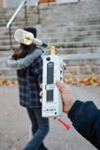 Protestor Measures Radiation From Videotron Antennas