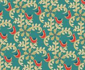 Abstract Floral and Birds Pattern SEAMLESS