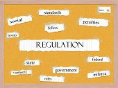 Regulation Corkboard Word Concept