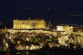 Parthenon night view, Acropolis Athens , Greece