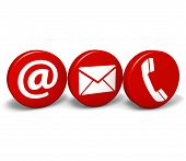 Web Contact Us Icons