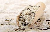 Wild Rice On Wooden Shovel