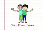 stock photo of  friends forever  - Happy Friendship day background Best Friends Forever - JPG