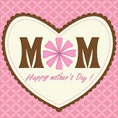 Happy Mothers Day Pink Background
