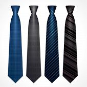 Vector set of neckties