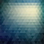 image of parallelepiped  - Retro mosaic pattern of geometric texture from triangle shapes - JPG